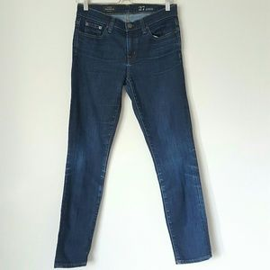 J Crew Toothpick ankle jeans 27